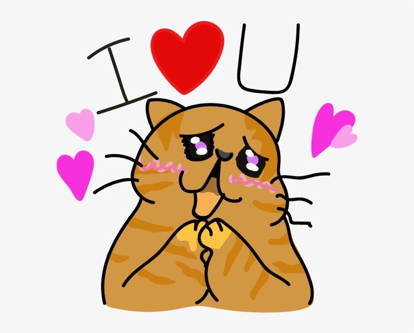 Funny Cat Emoji Stickers Messages Sticker-8 - Sticker, transparent png #729427