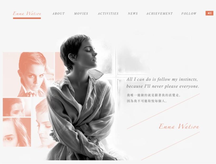 Emma Watson Website Design - Emma Watson Short Hair Black, transparent png #729510