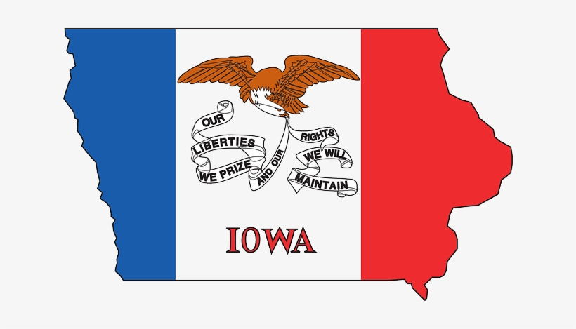 Flag, Outline, States, State, United, America, Iowa - Iowa State Flag, transparent png #729539