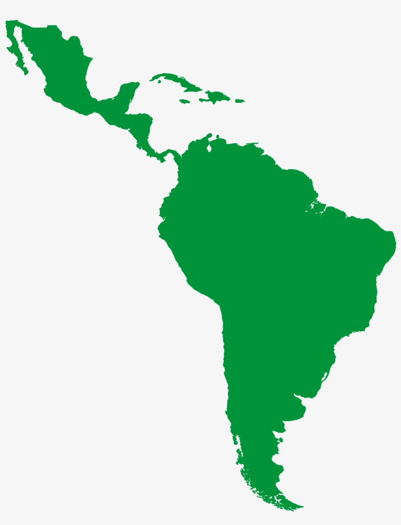 Map Of Mexico And South America - Free Transparent PNG Download - PNGkey