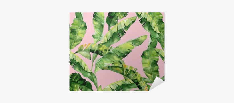 Seamless Watercolor Illustration Of Tropical Leaves, - Watercolor Painting, transparent png #730782