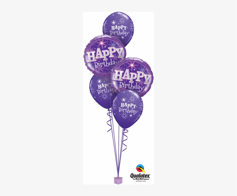Birthday Purple Sparkle Bouquet At London Helium Balloons - Lavender Unicorn Birthday Party Balloon Bouquet, Purple, transparent png #733752