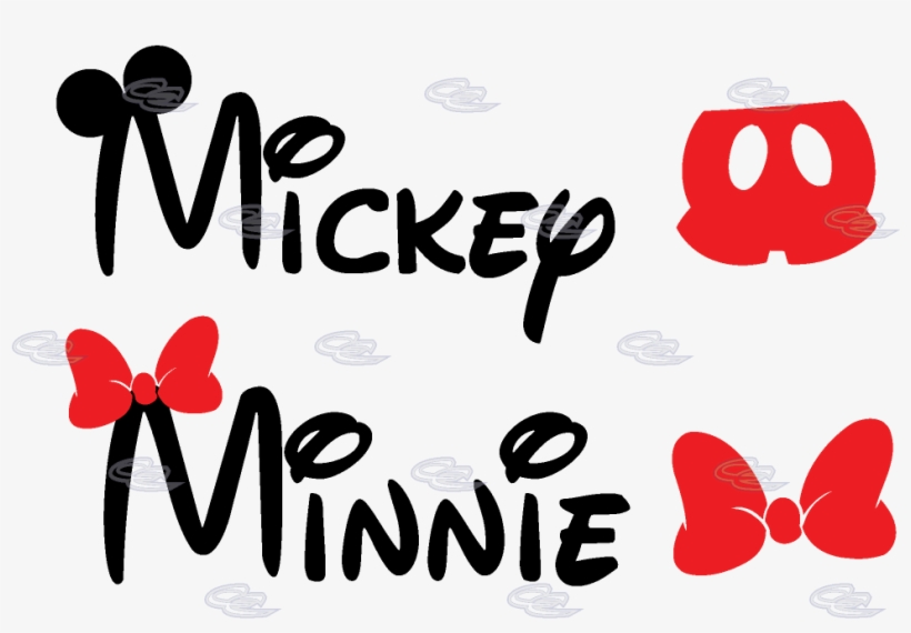 Mickey Mouse Pants Minnie Mouse Bow - Mickey And Minnie Mouse Name, transparent png #736751