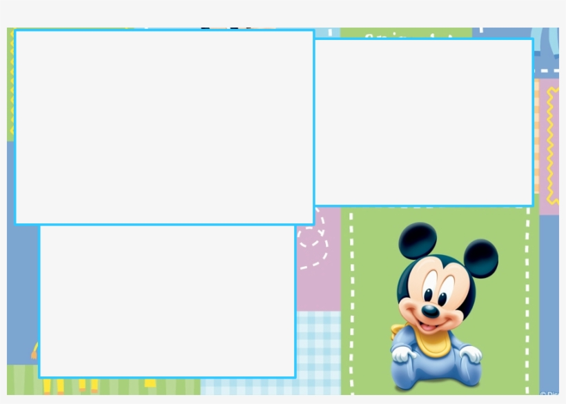 Baby Mickey Wallpaper Montagem - Baby Mickey Mouse Background, transparent png #736962
