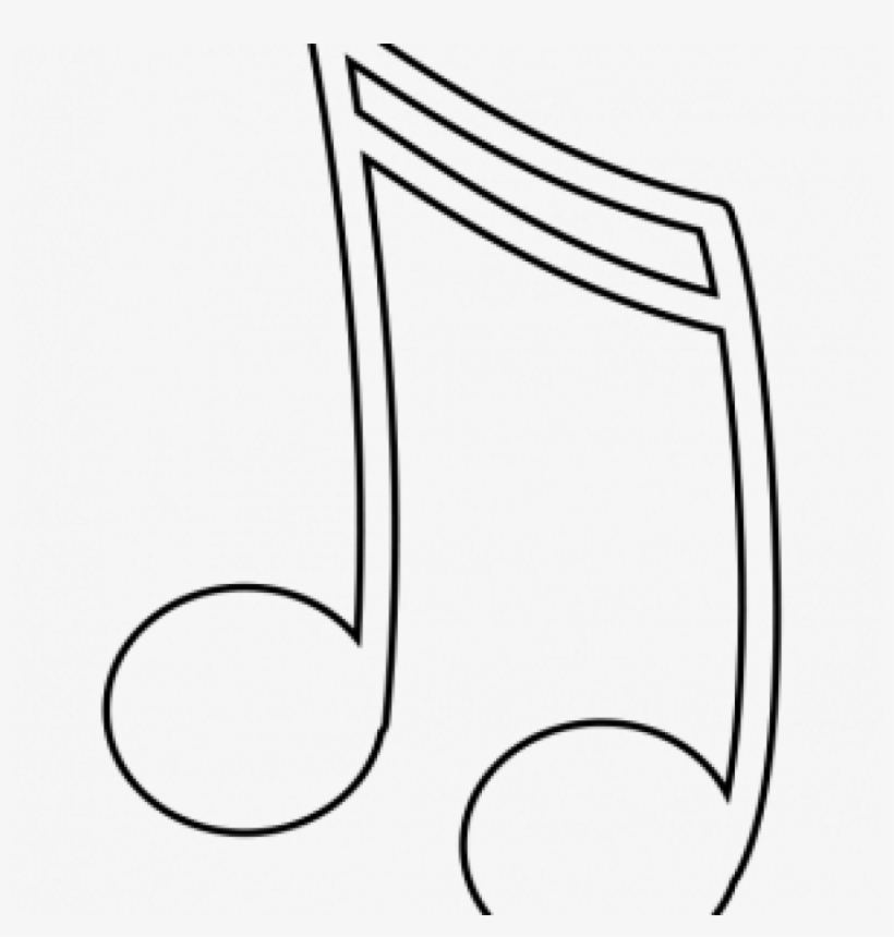 Black And White Music Notes Camping Clipart Hatenylo - Music Notes Clip Art, transparent png #737695