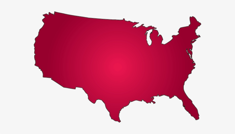 Picture Free Stock Outline All About Usa Simple Source - Red United States Outline, transparent png #737891