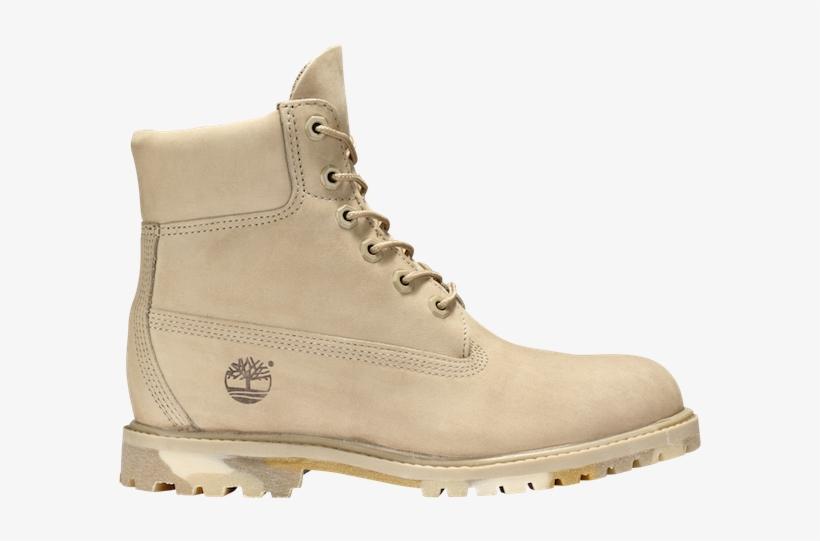 Women's 6-inch Premium Waterproof Boots Cornstalk Nubuck - Botas De Mujer Timberland Color Beis, transparent png #738576