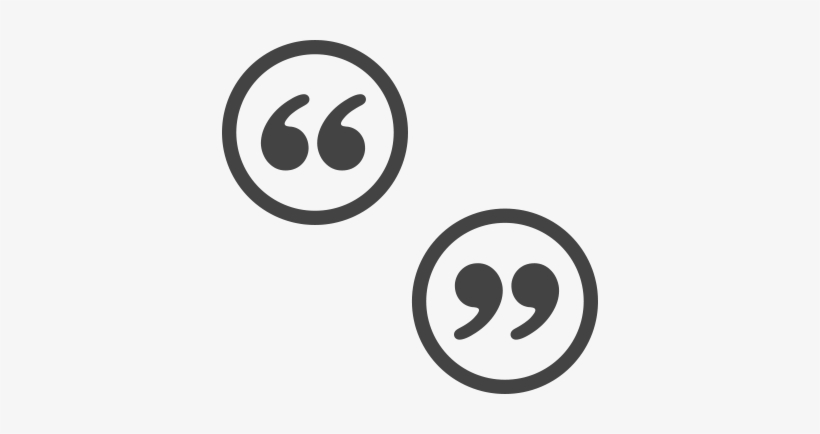 Grey Quotation Marks In Grey Circles Positioned Diagonally - Quote Marks In Circle Png, transparent png #739832