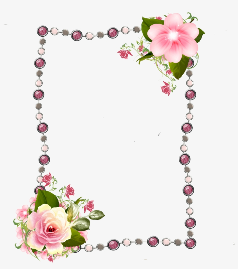 Borders And Frames, Borders For Paper, Cute Frames, - Png Frames Rose, transparent png #739984