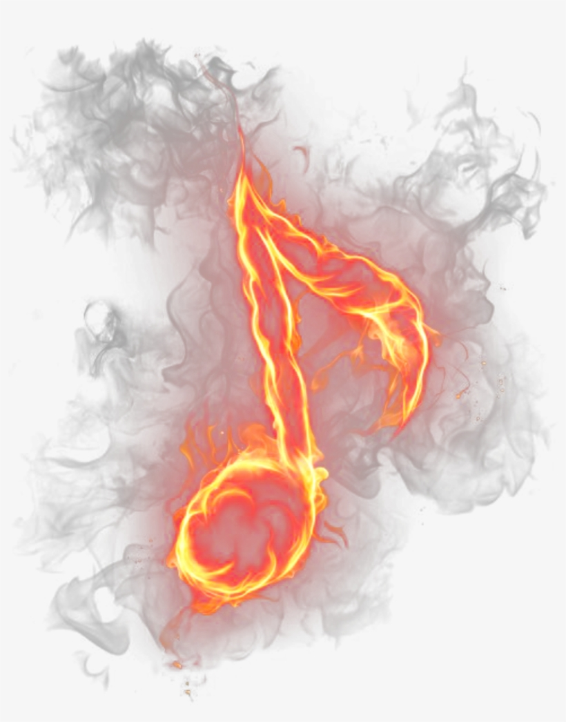 Ftestickers Music Musicnote Fire Flames Free Transparent Png Download Pngkey