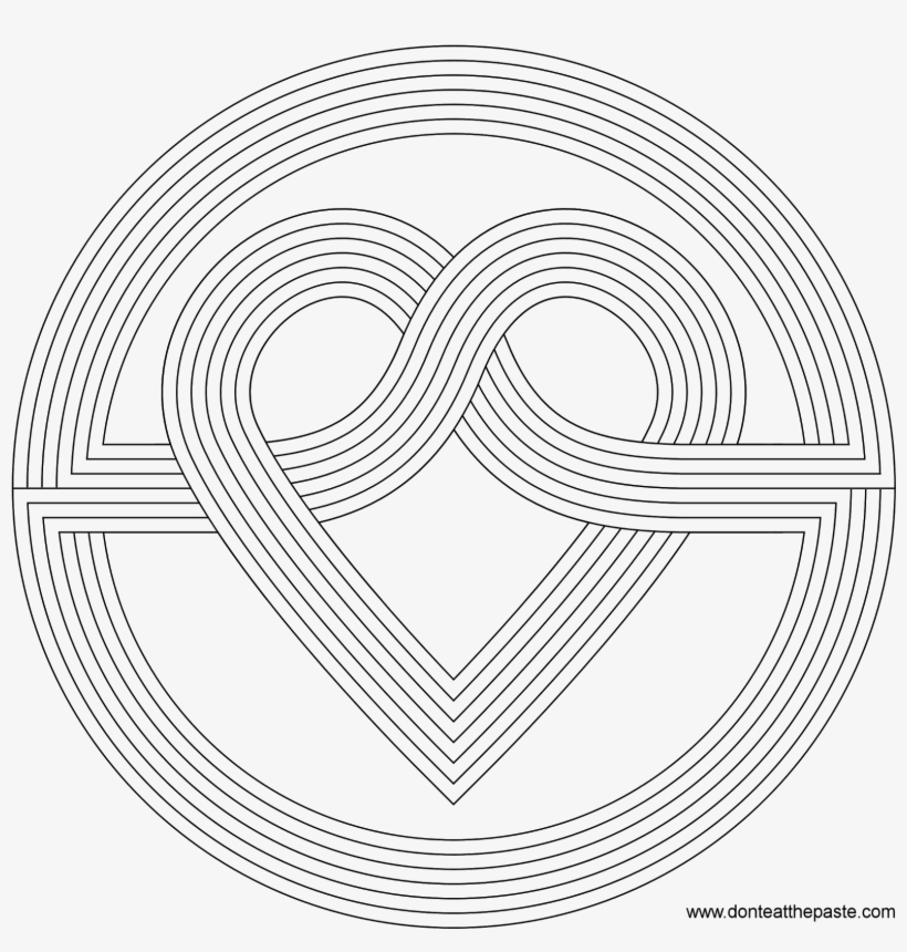 Coloring Pages Patterns Download Pattern In Bloodbrothers - Rainbow Heart Coloring Page, transparent png #741273
