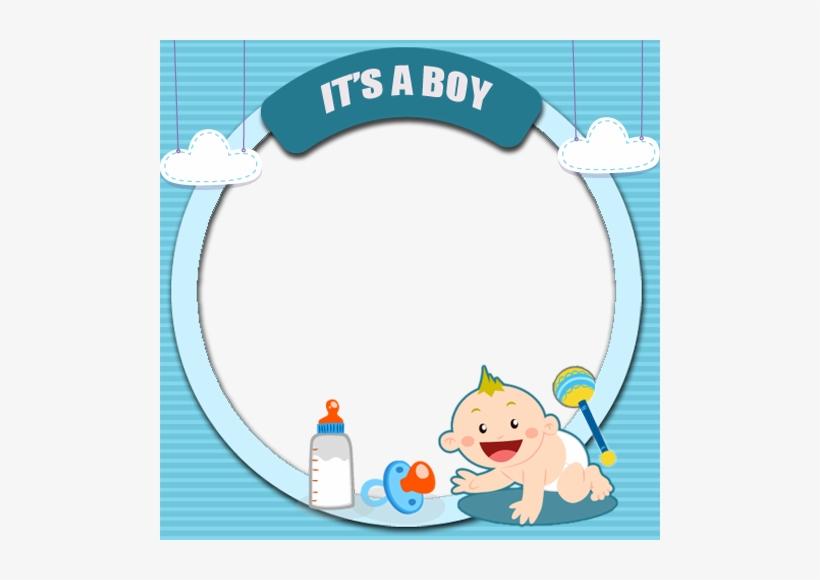 Baby Boy Frame Png Clip Art Transparent Download - Bingkai Baby Boy, transparent png #741625