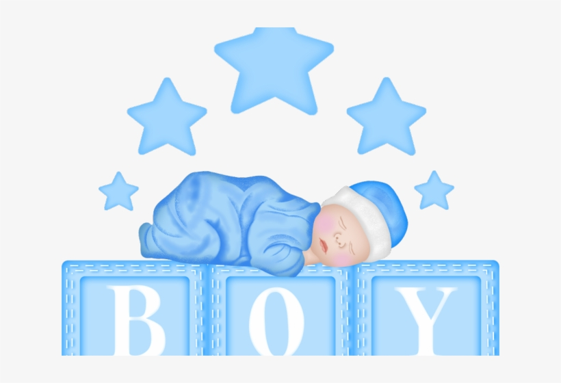 Baby Boy Shower Clipart - Baby Blocks Clipart Boy, transparent png #741795