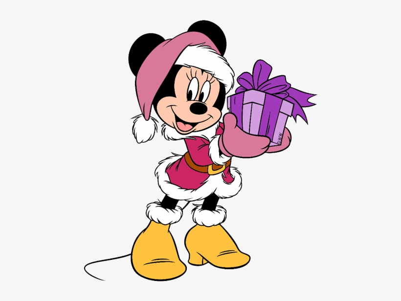 Clip Royalty Free Library Friends Clip Art Disney Galore - Christmas Minnie Mouse, transparent png #741916