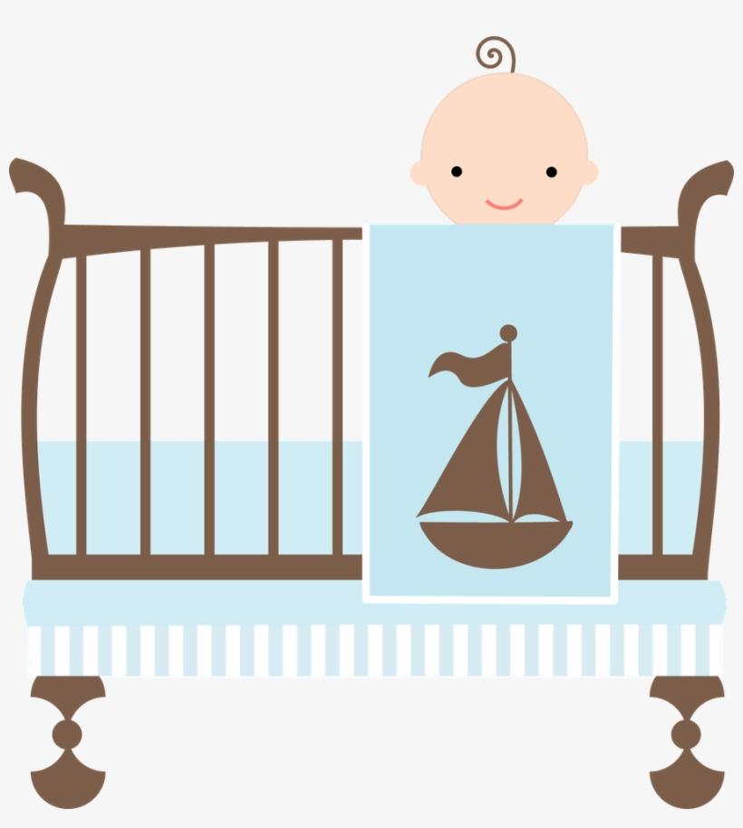 Crib Clipart Baby Boy Crib - Baby Shower Wording New Boy Mom, transparent png #742206
