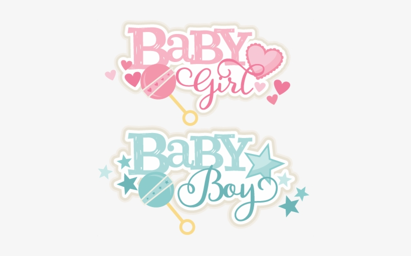 Baby Girl And Boy Titles Svg Scrapbook Cut File Cute - Girl Or Boy Png, transparent png #742265