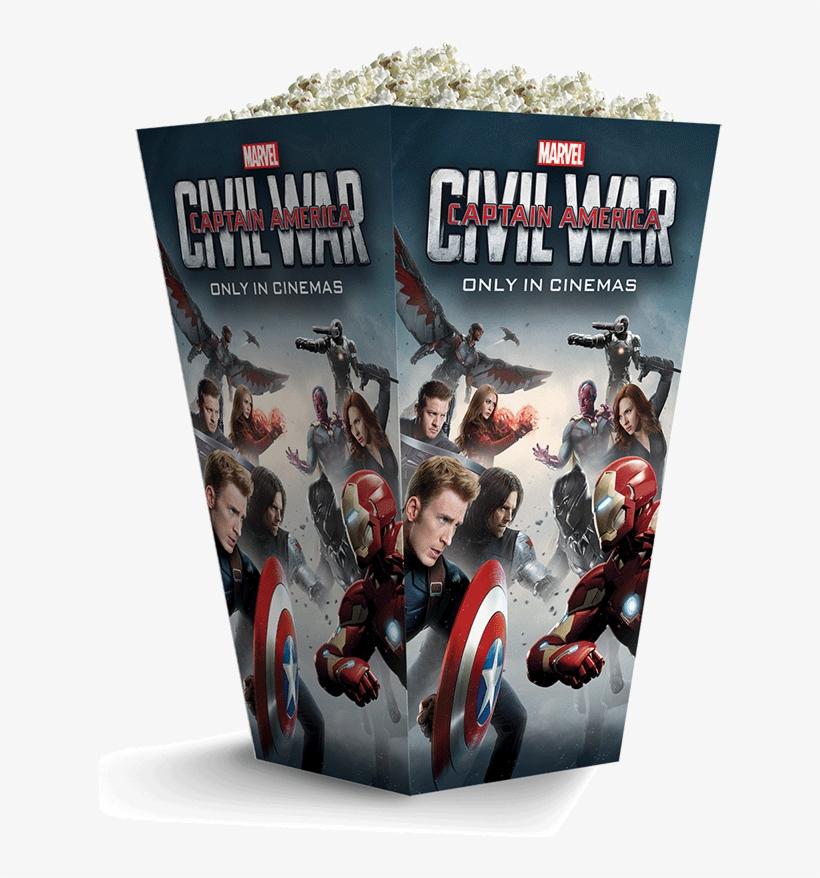 Captain America Civil War - Captain America Civil War Popcorn, transparent png #742311