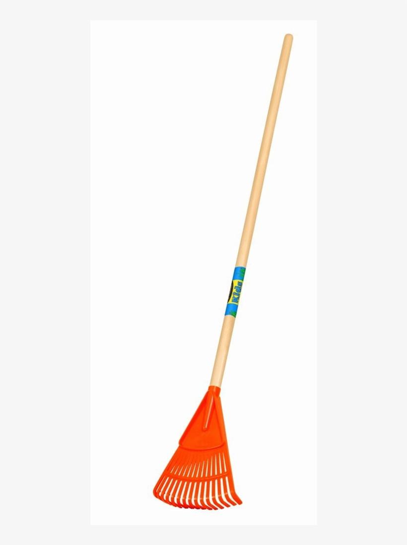 Truper Kids Garden Tools Plastic Leaf Rake, transparent png #742866