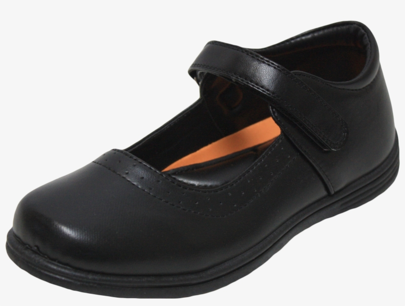 Girls School Shoes Black - Girls Black School Shoes Mary Jane Style, transparent png #743305