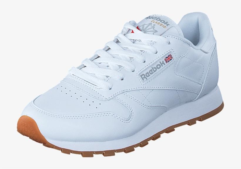 82d1a7fc29e0 Reebok Classic Cl Lthr Int White gum 58912-01 Mens - Shoe - Free ...
