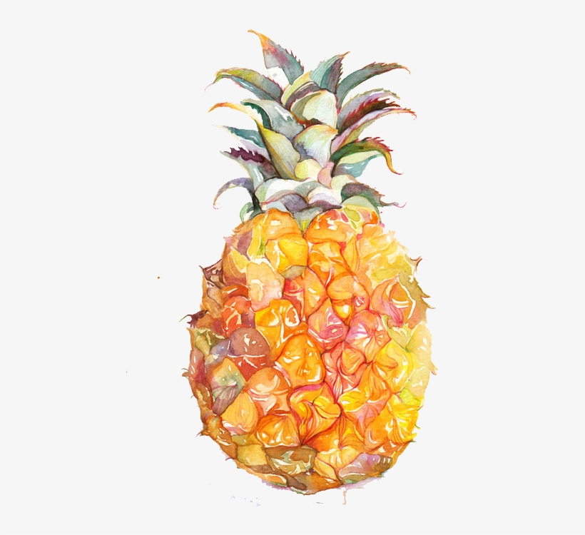 Juice Fruit Watercolor Painting Pineapple - Pineapple Yellow Indoor Or Outdoor Oblong Throw Pillow, transparent png #743391