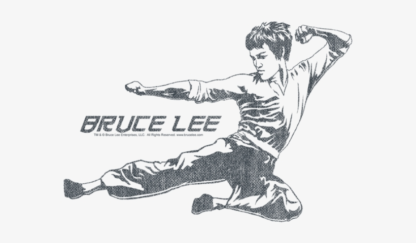 28 Collection Of Bruce Lee Kicking Drawing - Bruce Lee Kicking Drawing, transparent png #743991