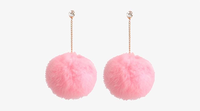 9c42e22f8e997 Itgirl Shop Fur Fluffy Pom Pom Earrings Aesthetic Apparel ...