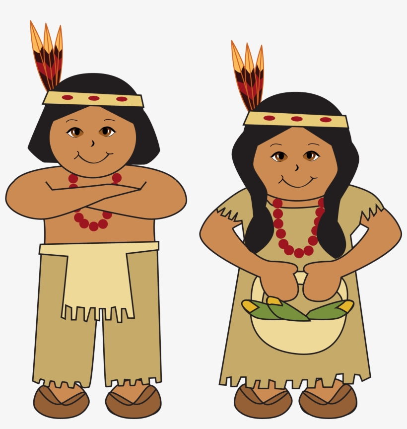 Collection Of Pilgrim And Native American - Indians Clip Art, transparent png #745186
