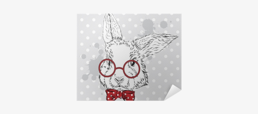 Rabbit Vector - Hipster Watercolor Bunny, transparent png #745768