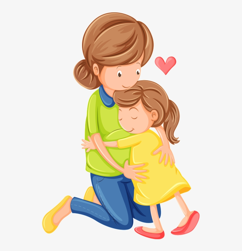 Download Hugs And Kisses Free Mother And Daughter Clipart Png