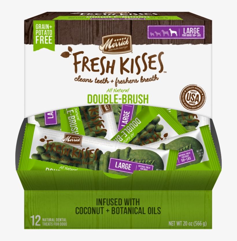 Merrick Fresh Kisses Grain Free Coconut Oil And Botanicals - Merrick Fresh Kisses Double-brush Coconut Oil , 25, transparent png #747515