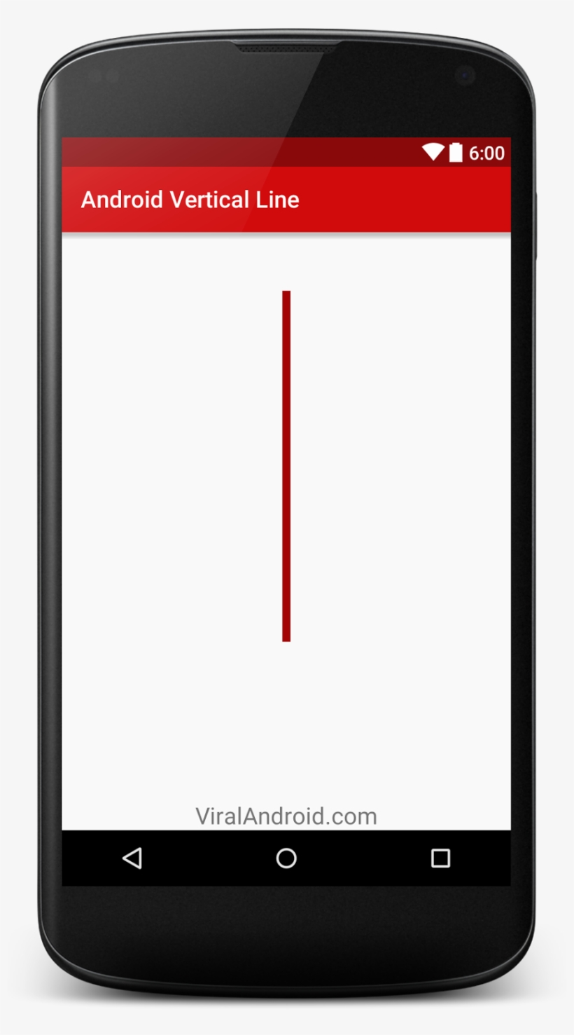 how to create vertical line in android using xml  android