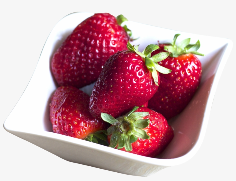Bowl Filled With Fresh Strawberries Png Image - Strawberry In Bowl Transparent, transparent png #749431