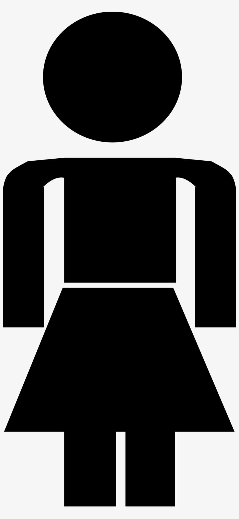 Female Stick Figure Png - Human Stick Figure Female, transparent png #751248
