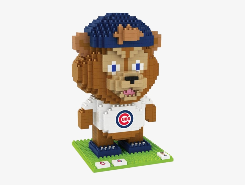 Chicago Cubs Mlb 3d Brxlz Puzzle Blocks - Chicago Cubs Clark Mascot Brxlz Puzzle, Brown, transparent png #753811