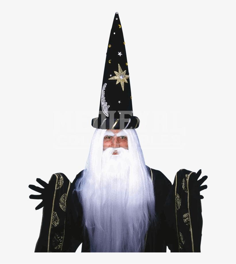 Wizard Beard Png - Forum Novelties Merlin Wig And Beard Wigs Adult Costume, transparent png #754810