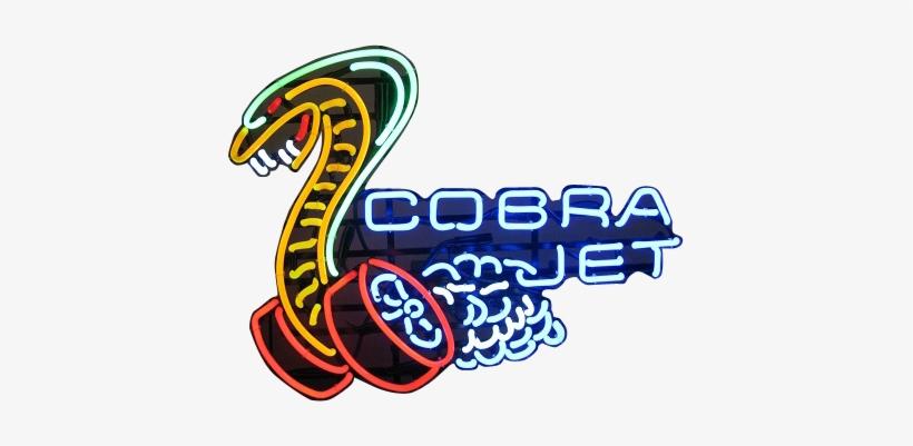 Automotive Neon Signs Cobra Jet Logo Free Transparent Png