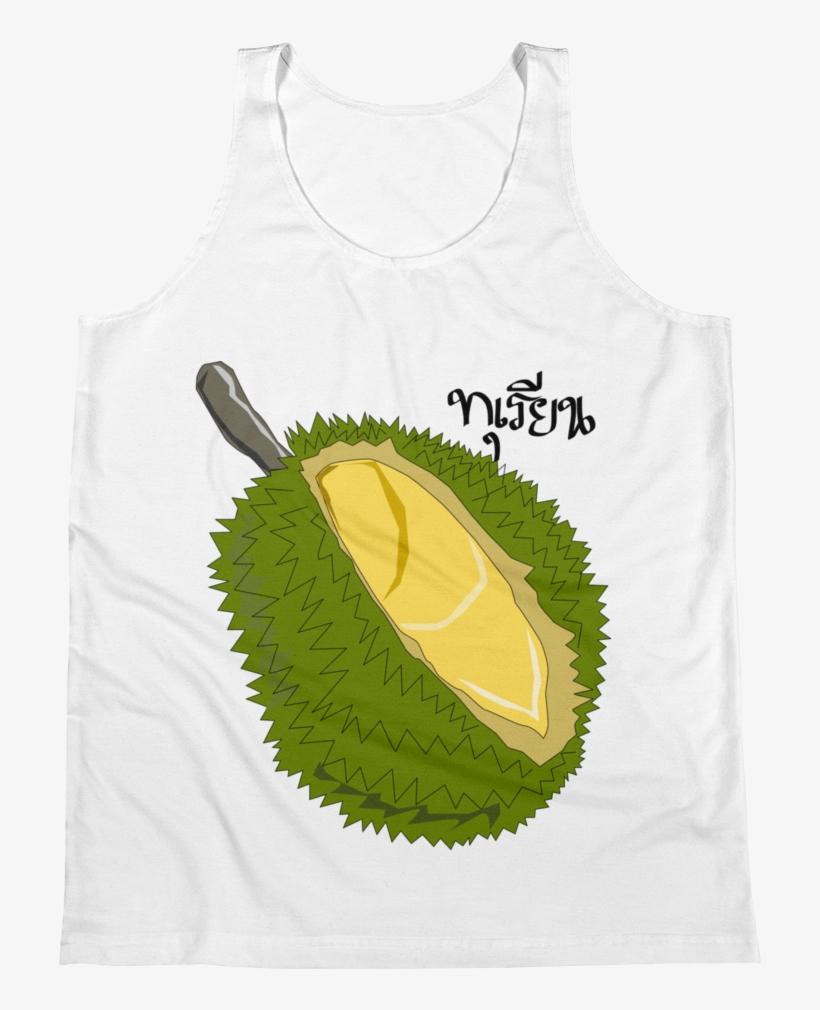 Unisex Tank Top Durian Thai King Fruit - Durian Fruit Clipart Png, transparent png #756951