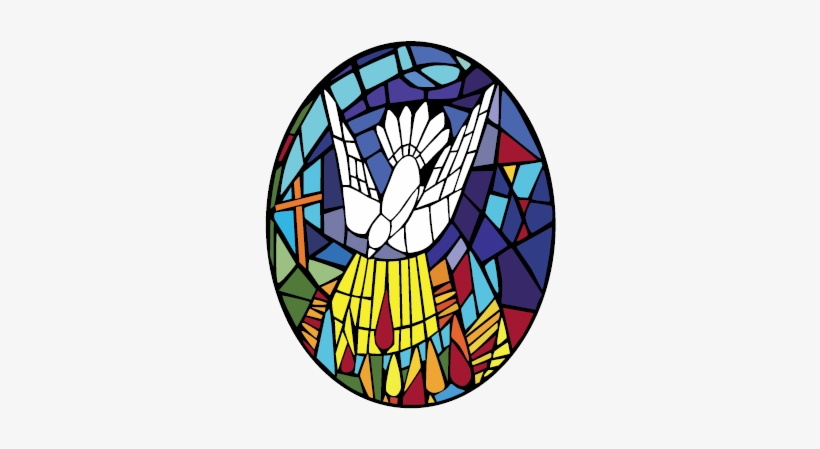 Contact Church Of The Holy Spirit - Holy Spirit Stained Glass Window Png, transparent png #758865