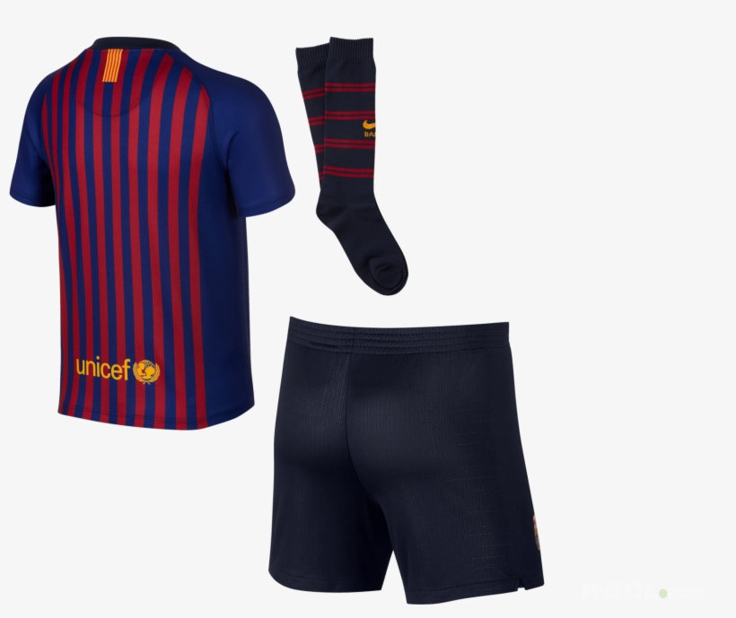 fe5cea41950 Set Nike Fc Barcelona Little Kid 2018 19 Home 894479-456 - Free ...