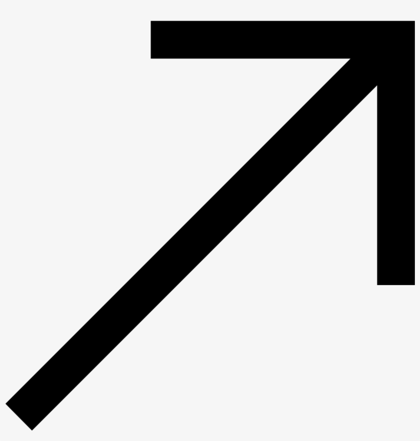 It's An Arrow Pointing Straight Up And Angled To The - Arrow Up And Right, transparent png #7586915