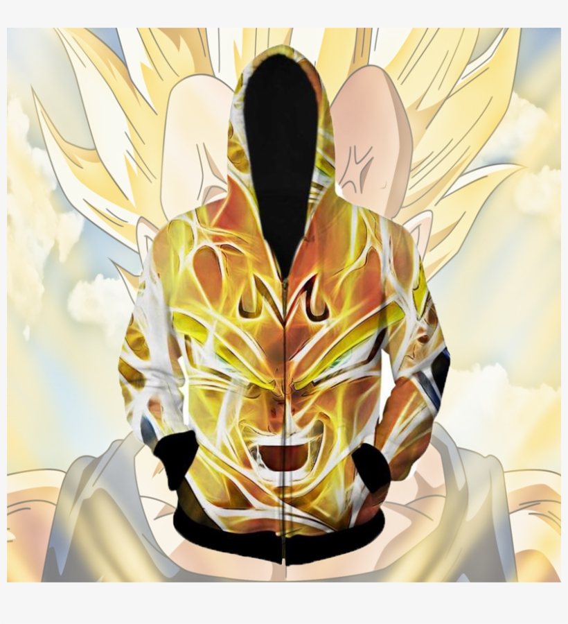 Majin Vegeta 3d Zipup Hoodie Tag A Friend Who Would - Dragon Ball Z Vegeta Hoodie, transparent png #7591550