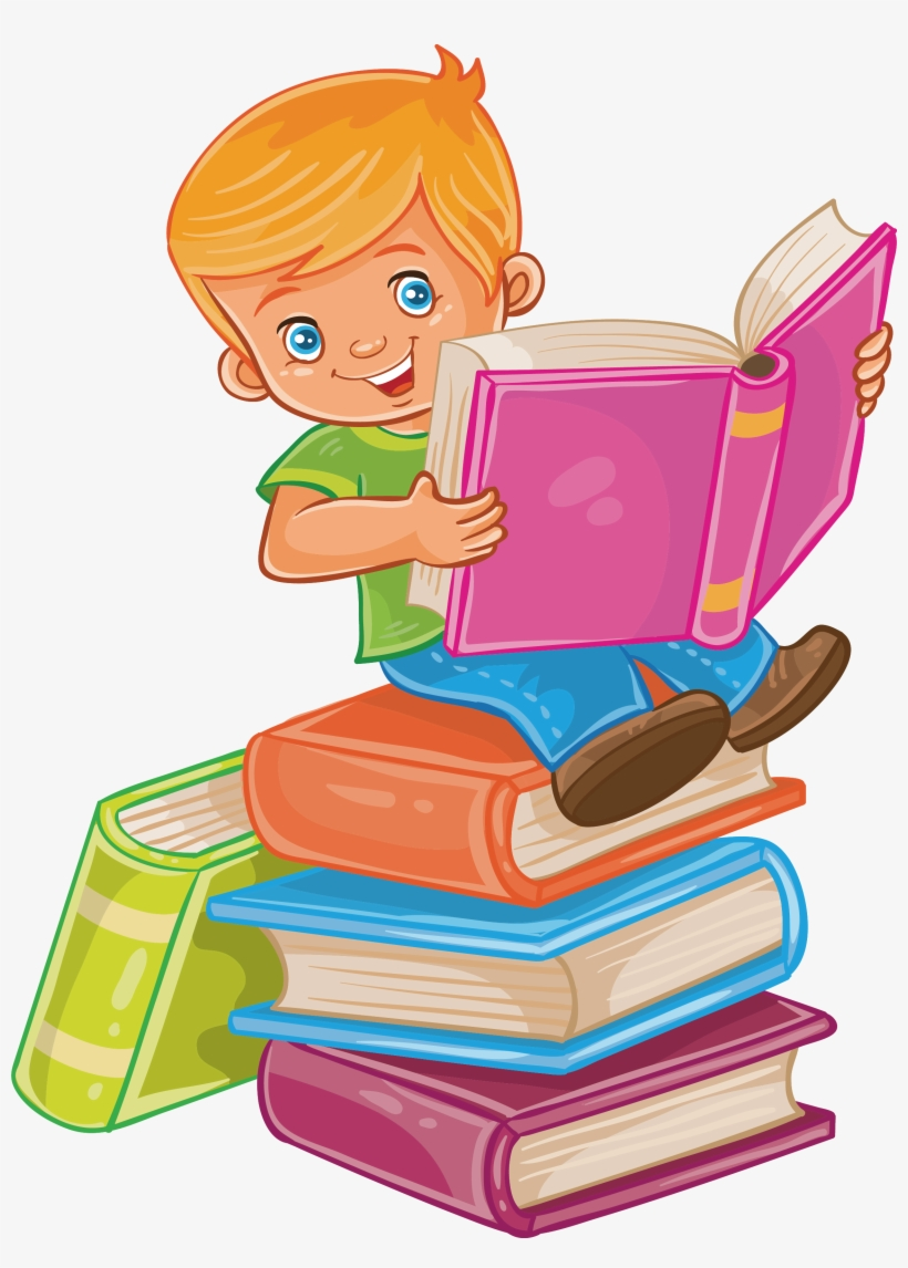 Child Reading Royalty-free Illustration - Read A Book Png, transparent png #7593865
