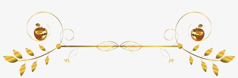 Gold Divider Png - Gold Text Dividers Png, transparent png #7595461