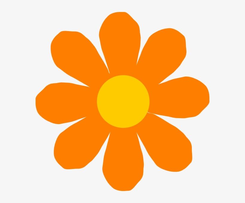 Orange Flower Clip Art - Flower Clip Art Png, transparent png #760834