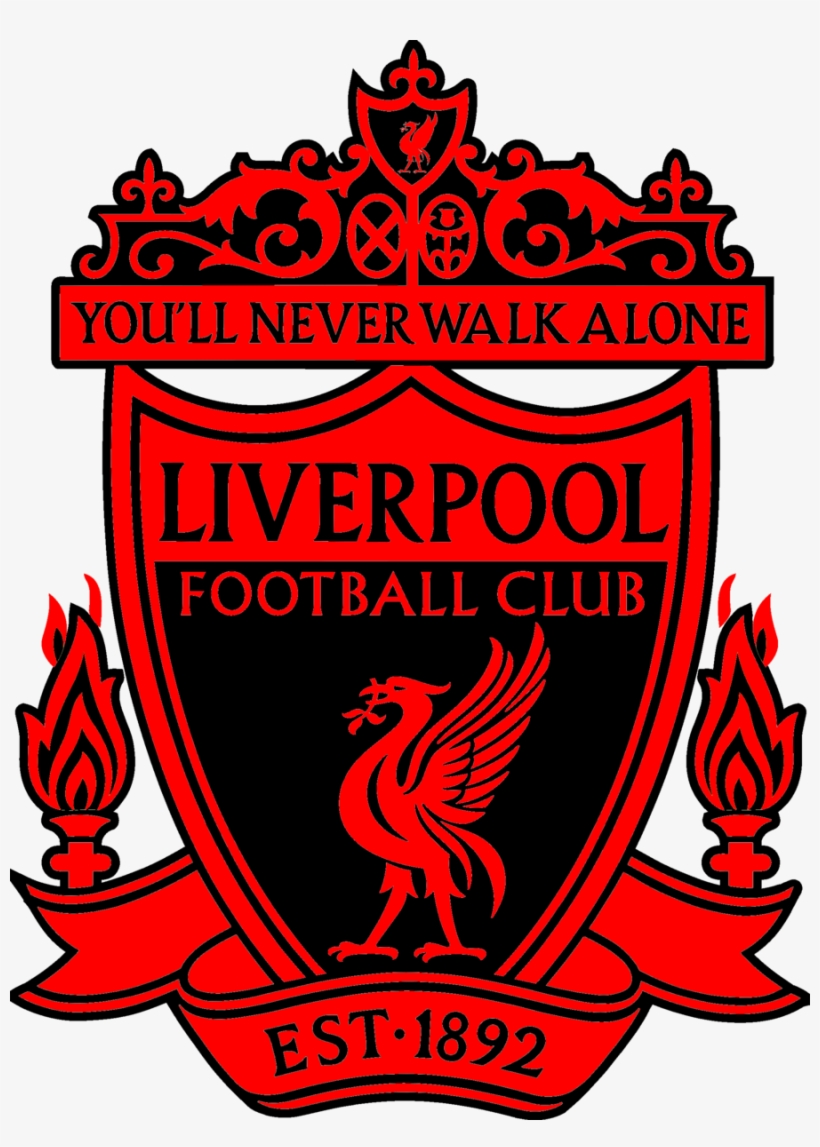 Fc Liverpool Logo - Liverpool Fc Black And Red - Free