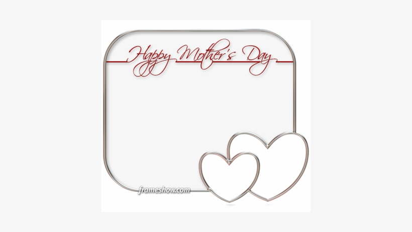 Elegant Happy Mothers Day Photo Frame - Happy Mothers Day Frames Png, transparent png #761535