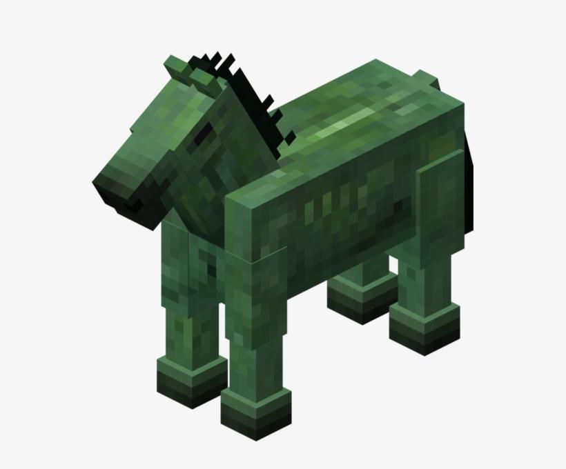 Datei - Zombiepferd - Minecraft Zombie Horse And Skeleton Horse, transparent png #762102