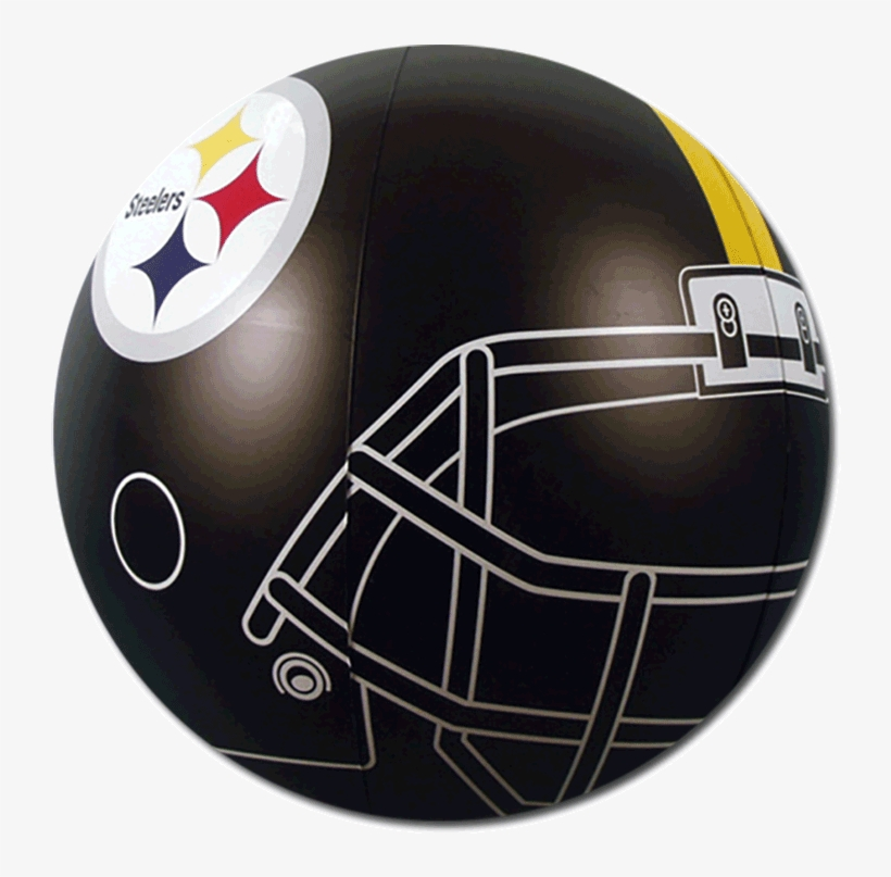 Steelers Logo Png Beach Balls From Small To Giants - Team Sports America Pittsburgh Steelers Beach Ball, transparent png #762778
