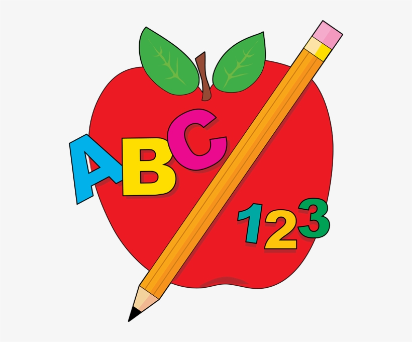 School Apple Clip Art - Abc Clip Art - Free Transparent ...